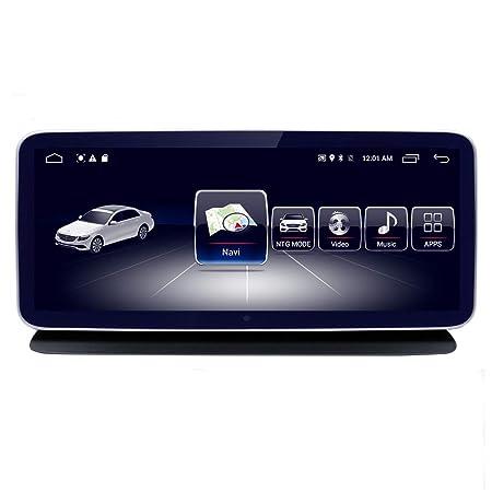 10.25 Car Navigation Touch Screen for Mercedes Benz C CLK Class W204 2008 to 2010, 4GB RAM 64GB ROM 1920×720 High Resolution Blu-ray Screen GPS Car Navigation Stereo Radio Multimedia Play