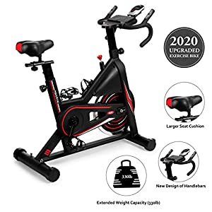 Exercise-Bike-DMASUN-Indoor-Cycling-Bike-Stationary-Comfortable-Seat-Cushion-Multi-grips-Handlebar-Heavy-Flywheel-Upgraded-Version-Black