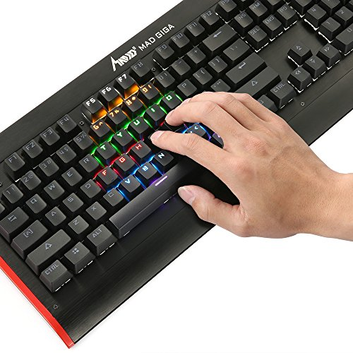 Mechanical Gaming Keyboard Backlit Multicolor L...