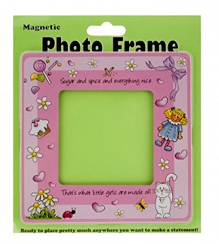 """UPC 637390787077, Baby Girl Magnetic Photo Picture Frame (4.5"""" x 4.5"""")"""