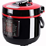 Aobosi Electric Multi-Cooker, 6L/1000w, Digital Programmable Electric Pressure Cooker with BPA Free Stainless Steel Inner Pot, Free Recipe Book and Extra Sealing Ring & Steamer Rack