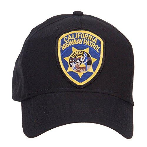 e4Hats.com California Highway Patrol Patched Cap - Black OSFM