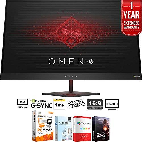 "HP Omen 27"" QHD  165Hz 1ms NVIDIA G-SYNC Gaming Monitor +"