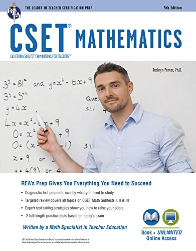 CSET Mathematics Book + Online (CSET Teacher Certification Test Prep)