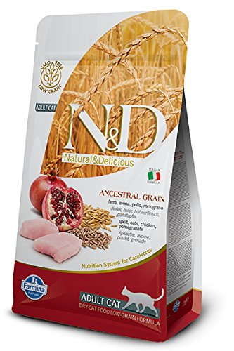 Farmina Natural & Delicious Low Grain Chicken and Pomegranate Adult Cat, 11 lb bag Review