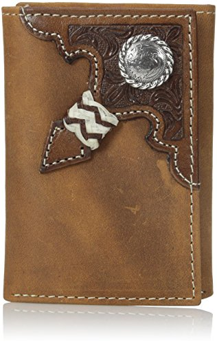 Ariat Men's Raw Hide Tri-Fold, Aged Bark, One Size
