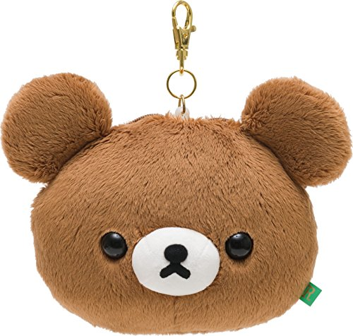 Rilakkuma w/Reel Credit ID Smart IC Card Case Holder with Chain Clip Snap Hook Bag Backpack Purse Wallet Decor PLUSHIES Plush Doll Toy Mascot Plushy Stuffed Puppet San-x