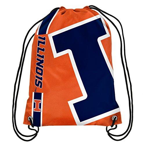 Illinois Big Logo Drawstring Backpack ()