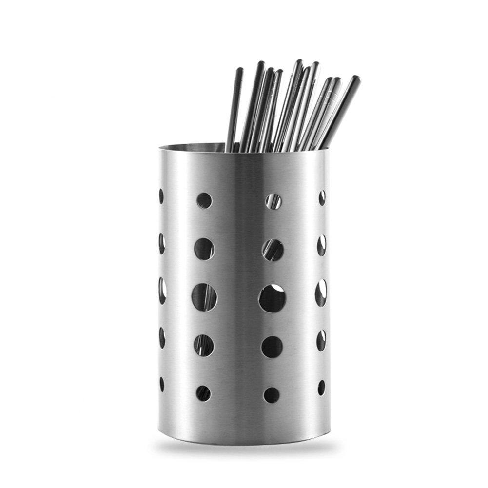 HaloVa Utensil Caddy, Food Grade Stainless Steel Tableware Organizer, Home Kitchen Dining Utensil Storage Rack Basket Holder for Chopsticks Spoon Fork Knife, Large