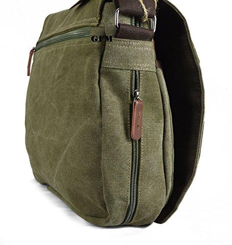 para de Green bebé bolso Uni bandolera clásico del o bandolera accesorios viajar Army School Lienzo boda bolso HR01 21 Large college de Style oficina para el estilo para Casual BInHpxxwq