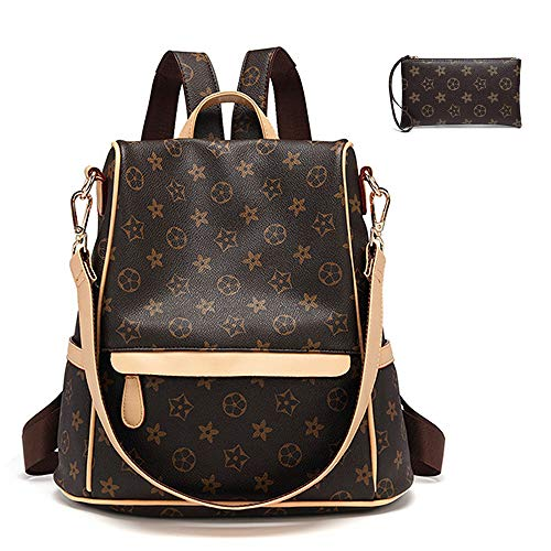 DEKOOL Fashion School Leather Backpack Purse for Women, Designer PU Shoulder Bag Handbags Travel Purse Crossbady Shoulder Bag(SA STYLE) ()