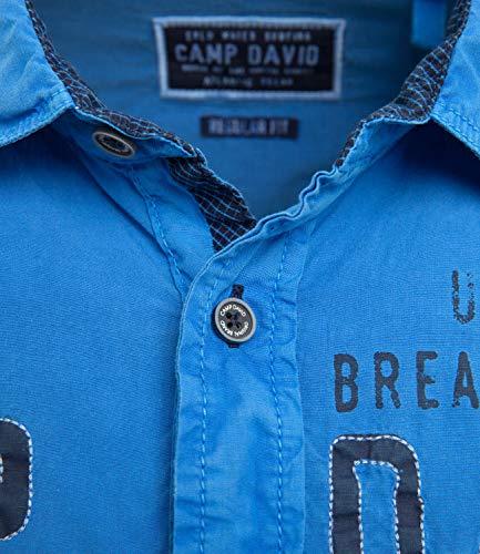 Casual Uomo Blu Camp Camicia David TxEwqnZP6