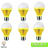 Light Itup LED Light Bulb 5-Watt | Indoor and Outdoor Great for Anti-Bug Lighting | Energy Efficient 40-Watt Equivalent | Home, Patio, Deck, Party (6 Pack, Yellow)