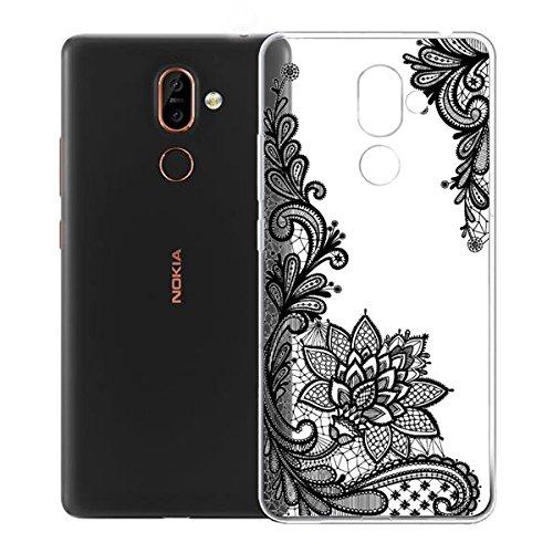 Funda para Nokia 7 Plus , IJIA Transparente Verde Pequeño Cute Pet TPU Silicona Suave Cover Tapa Caso Parachoques Carcasa Cubierta para Nokia 7 Plus (6.0) WM108
