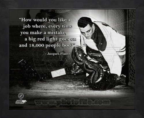 Jacques Plante Montreal Canadiens Pro Quotes Framed 8x10 Photo (Photographs Sports)