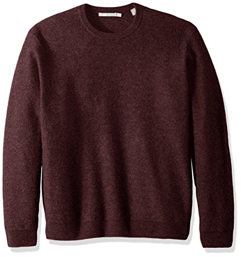 Vince Men's Simmered Cashmere Oversized Crew Neck Sweater, Shiraz, ()