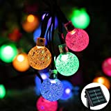 Solar String Light 20 ft 30LED Crystal Ball Waterproof Globe String Lights Solar Powered LED Fairy Lighting for Garden Home Landscape Party, Festival ,Holiday Decorations(Multicolor)