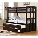 Coaster 460071-CO Chester Twin Bunk Bed with Ladder