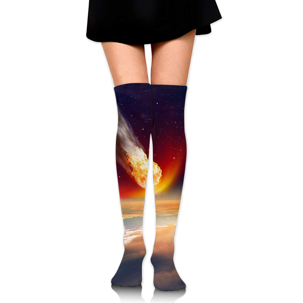 High Elasticity Girl Cotton Knee High Socks Uniform Magic Space Women Tube Socks
