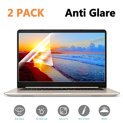 (2-Pack) 15.6 inch Anti-Glare/Anti Scratch Matte Laptop Screen Protector Guard for Display 16:9 15 inch Notebook Film ()