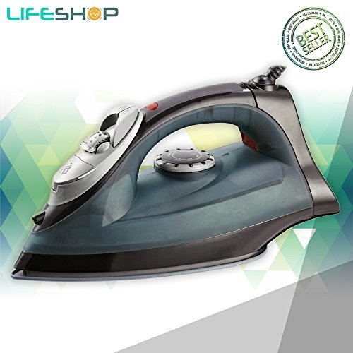 LifeShop Milex Steam And Dry Iron Power Blast with Multiple Steam Modes 1200W (Black) -