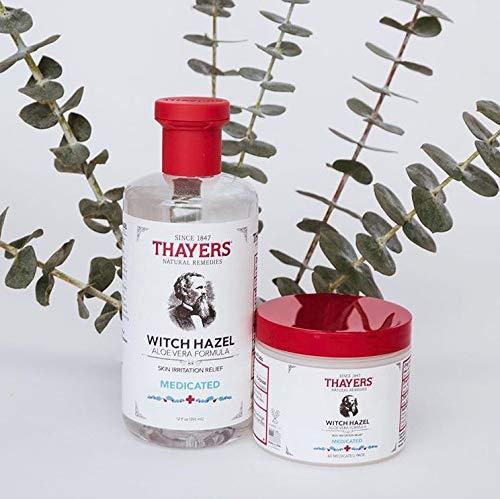 Thayers Medicated Skin Irritation Relief Witch Hazel with Aloe Vera, 12 oz  bottle