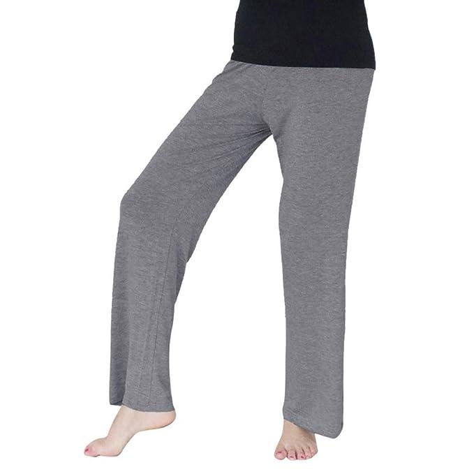 ec11d6502ccf52 Vertvie Damen Sporthose Lang Elastischen Weite Beine Stretch Jogginghose  Fitnesshose Freizeithose (EU 44/Etikettengröße