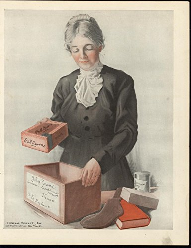Sending Care Package Warfront Cigars Socks c.1918 antique historic color print (Sending Care Packages)