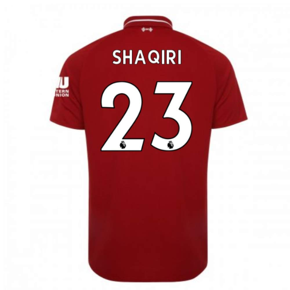 2018-2019 Liverpool Home Football Soccer T-Shirt Trikot (Xherdan Shaqiri 23) - Kids