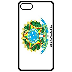 Brazil Coat Of Arms Flag Emblem Black Apple Iphone 6 (4.7 Inch) Cell Phone Case - Cover
