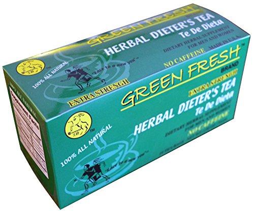 Green Fresh Extra Strength Herbal Dieters Tea 18 Tea Bags