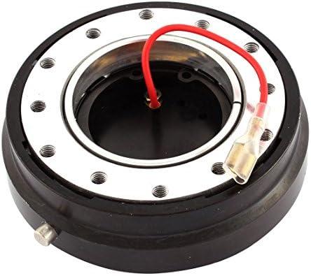 [해외]uxcell 34mm Slim Steering Wheel Quick Release Kit Black / uxcell 34mm Slim Steering Wheel Quick Release Kit Black