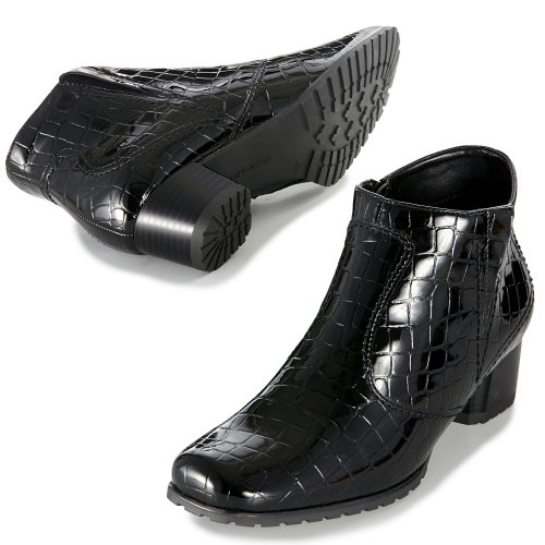 Jenny Genf Damen Kurzschaft Stiefel schwarz Weite H