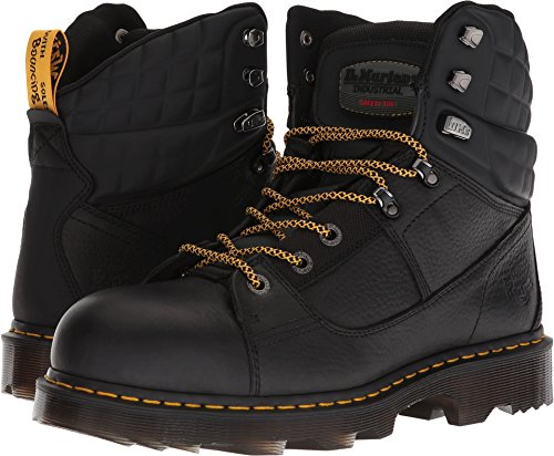 Dr. Martens Men's Camber Steel Toe Ex Wide Black Industrial Bear/Black Soft Rubbery 9 D UK Wear Dr Martens