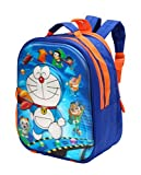 Adventurer Kids School bag, Multi Colour with 3D Doremon Characters Backpack for Kids (Age- 2- 6 Years) (VA-0028)