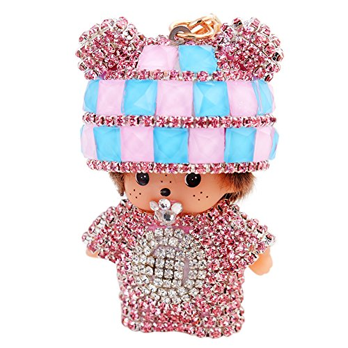 Purse/Handbag Charm Accessory,Rhinestone Keyring for Woman Superman Keychain Crystal Brand Cute Fashion Gift Key Ring (Superman Rhinestone)