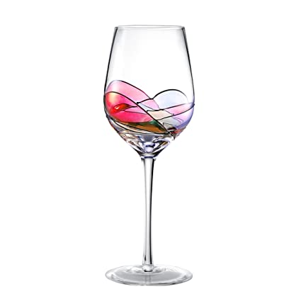 Hand Painted Wine Glasses Bouquetier Unique Gifts For Housewarming Mom Women Men Birthday Engagement