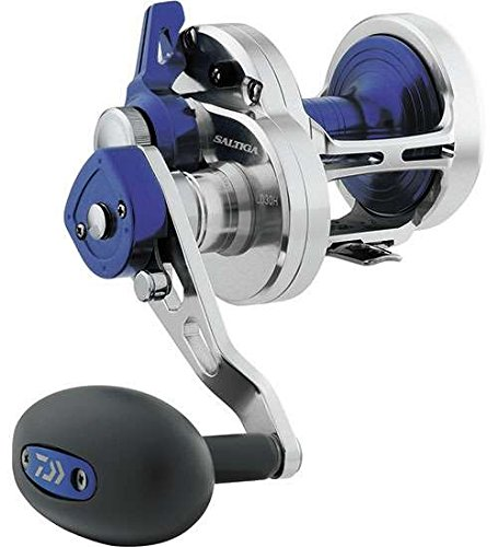 (Daiwa SALD40-2SPD Saltiga 2 Speed Lever Drag Saltwater Reel, 40, 6.3: 1 Gear Ratio, 6CRBB Bearings, 40 lb Max Drag, Right Hand)