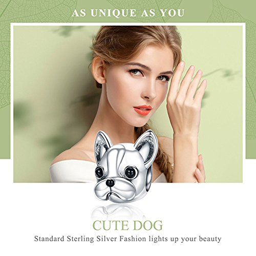 Forever Queen Dog Charm, 925 Sterling Silver Cute Loyal Partners French BULLDOG Doggy Animal Pet Bead Charms fit Pandora Charms for Pandora Bracelets Jewelry, Animal Lovers BJ09001 by Forever Queen (Image #5)