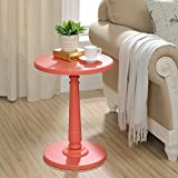 Haley Accent Table in Coral
