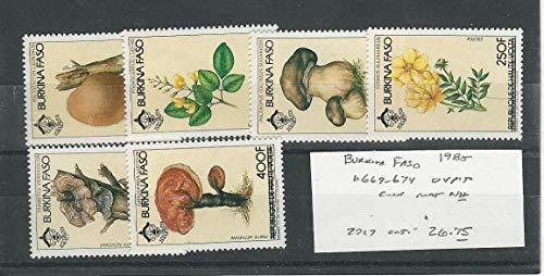 Burkina Faso, Postage Stamp, 669-674 Mint NH, 1985 Mushroom, ()