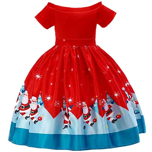 Girls Dress Sleeveless Christmas Snowman Holiday Party Size 3-10]()