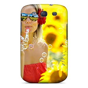 Mialisabblake Fashion Protective Sweet Women In Yellow Flower Case Cover For Galaxy S3 by icecream design