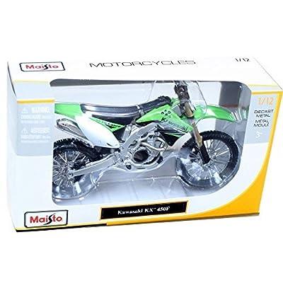 Maisto 31175 Kawasaki Kx 450f Dirt Bike 1:12 Green: Toys & Games