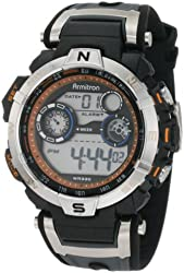 Armitron Sport Men's 408231ORBK Chronograph Black and Gray Resin Digital Watch