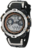 Armitron Sport Men's 408231ORBK Chronograph Black and Gray Resin Digital Watch