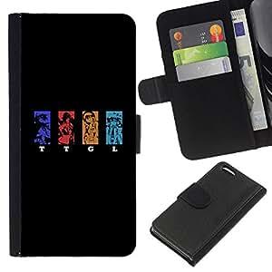 LECELL--Cuero de la tarjeta la carpeta del tirón Smartphone Slots Protección Holder For Apple Iphone 5C -- TTGL --