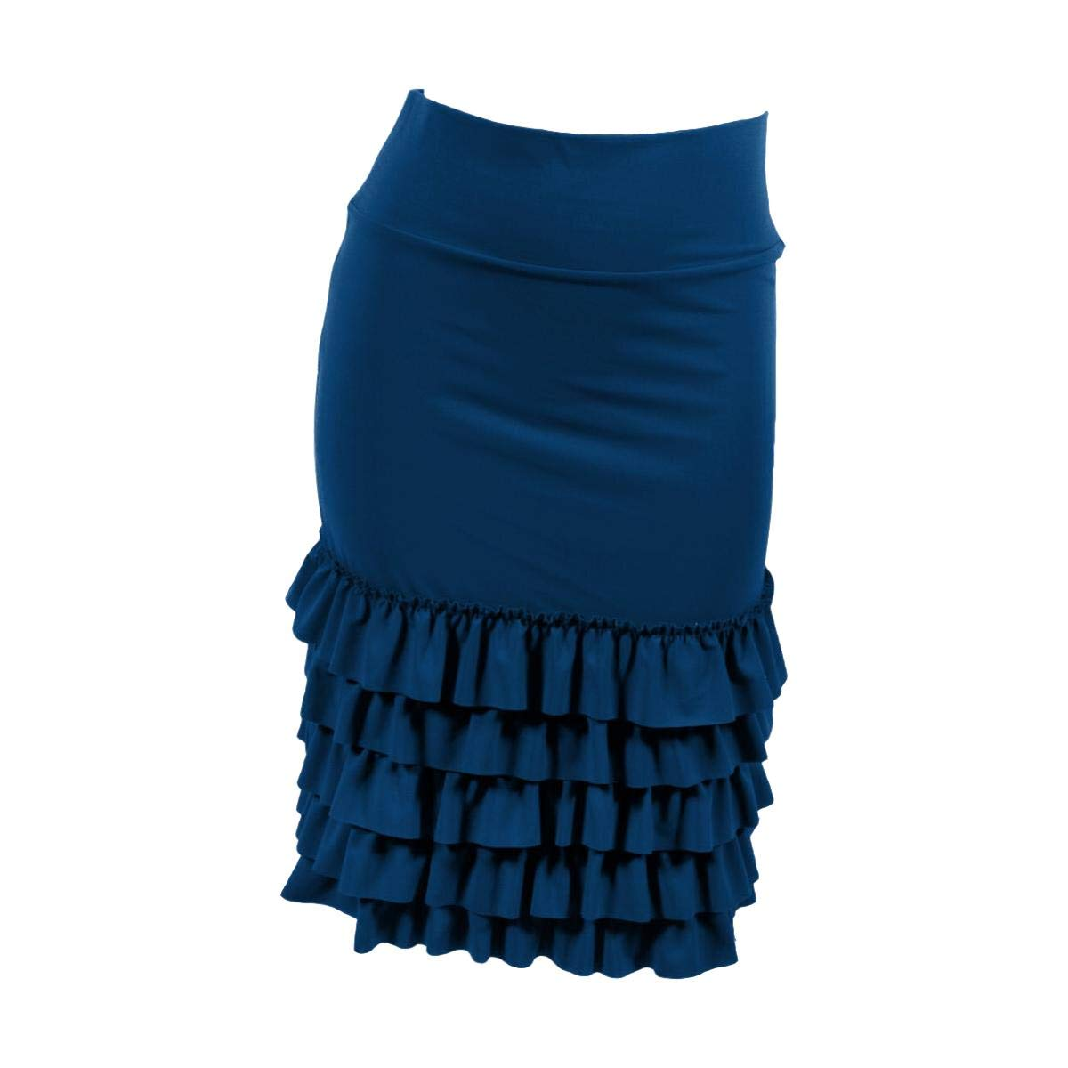 Peekaboo-Chic Bring on The Frill Half Slip Skirt Extender (l/XL, Navy)