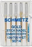 Schmetz Gold Embroidery Machine Needles-Size 14/90 5/Pkg