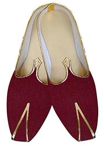 Tejido Vino MJ015881 Zapatos de Hombres INMONARCH Boda Revestimiento w6q4v7wn